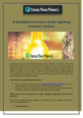 A detailed overview of the lighting inverter system.pdf