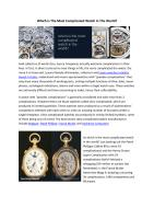 Which Is The Most Complicated Watch In The World.pdf
