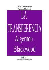 Algernon Blackwood - La transferencia.pdf