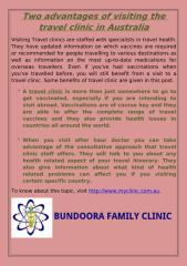 Two advantages of visiting the travel clinic in Australia.pdf