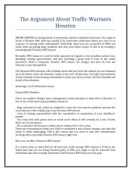 The Argument About Traffic Warrants Houston.doc
