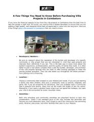 A Few Things You Need to Know Before Purchasing Villa Projects in Coimbatore.pdf