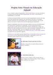 Projeto Artes Visuais na Educação Infantil.doc