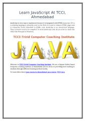 Learn JavaScript At TCCI, Ahmedabad.doc