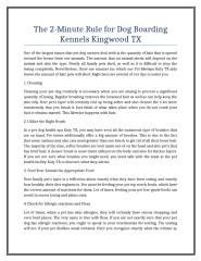 The 2-Minute Rule for Dog Boarding Kennels Kingwood TX.doc