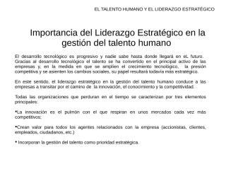 LAMINAS IMPORTANCIA DEL LIDERAZGO ESTRATEGICO EN LA GESTION.ppt