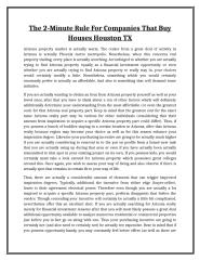 The 2-Minute Rule For Companies That Buy Houses Houston TX.doc