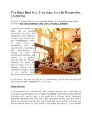 The Best Bed And Breakfast Inns In Placerville, California - Visit-Eldorado.pdf