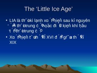 The 'Little Ice Age'_Phuong_nhom2.ppt