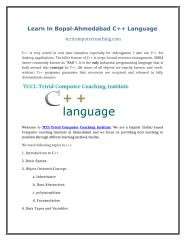Learn In Bopal-Ahmedabad C++ Language.doc
