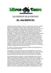 Algernon Blackwood - El Sacrificio.pdf
