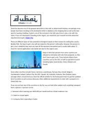Dubai has become one of the greatest attractions in the UAE or United Arab Emirates.docx