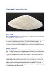 Silica sand- Uses and benefits.pdf
