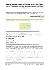 Review - Berita Acara Renewal Anti Virus eScan 2013.doc